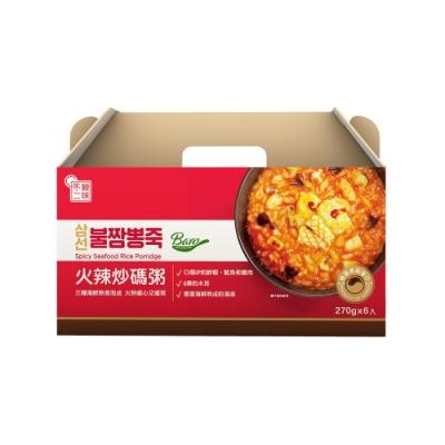 韓味不二【韓國原裝】火辣炒碼粥禮盒(270g*6入/盒)