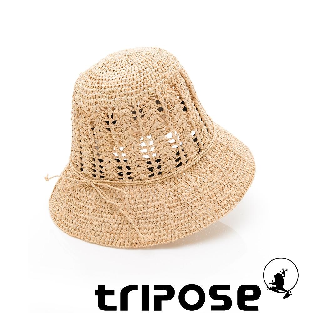 tripose CORAL 100%手工Raffia時尚遮陽草帽-帽簷8cm(自然色)