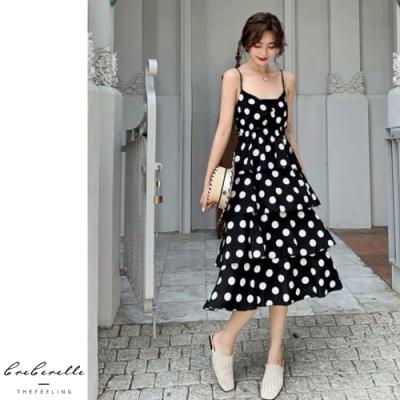 2F韓衣-韓系氣質波點無袖公主裙-波點(S-L)
