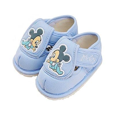 迪士尼 米奇 可愛baby造型 寶寶學步鞋-藍