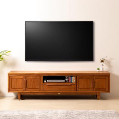 D&T 德泰傢俱 OLAF 天然油柚木7尺電視櫃-210x49.7x56.5cm