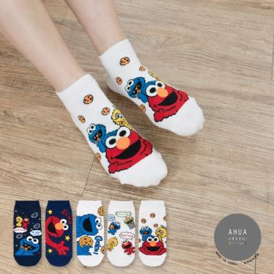 阿華有事嗎 韓國襪子 派對芝麻街短襪  韓妞必備短襪 正韓百搭卡通襪