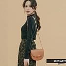H:CONNECT 韓國品牌 配件 -質感素面半月包-棕