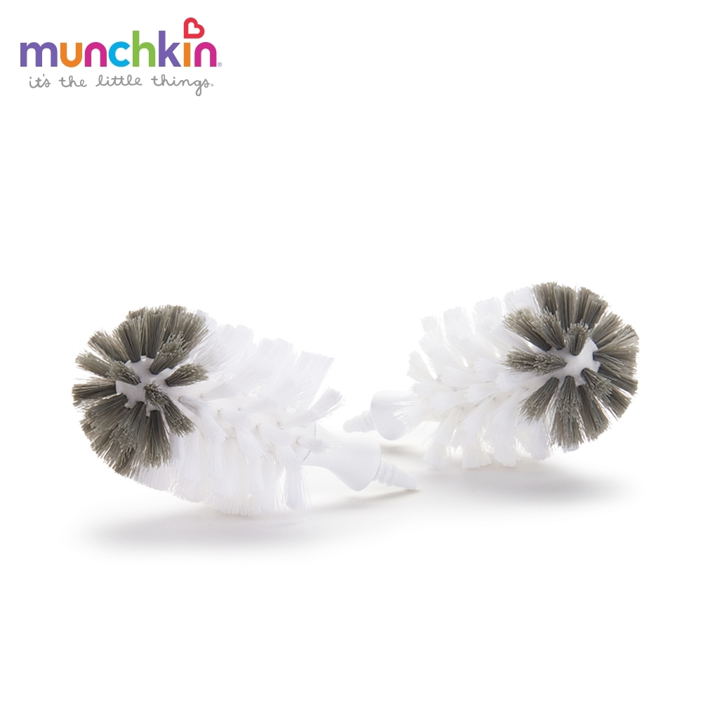 munchkin滿趣健-不鏽鋼奶瓶刷-替換刷頭2入