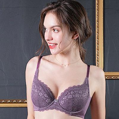 推EASY SHOP-柔情蔓戀 大罩杯B-E罩內衣(人氣紫)