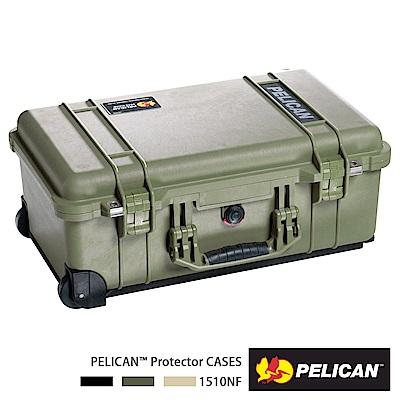 美國 PELICAN 1510 輪座拉桿氣密箱-空箱(綠)