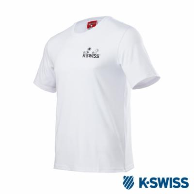 K-SWISS Classic Original SNOOPY短袖T恤-男女-白