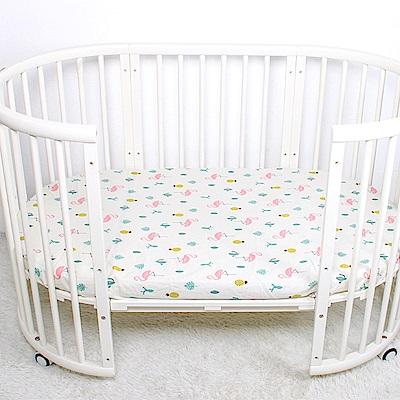 荷蘭Muslintree嬰兒床單蓋被純棉嬰幼兒床單