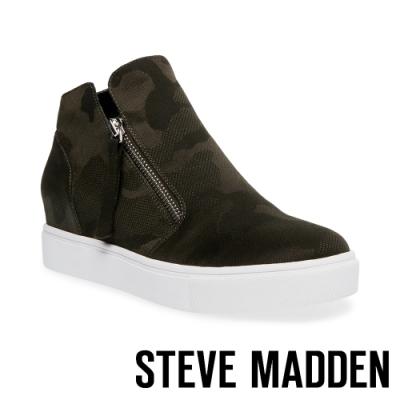 STEVE MADDEN-CALIBER 率性風格拉鍊內增高休閒鞋-迷彩