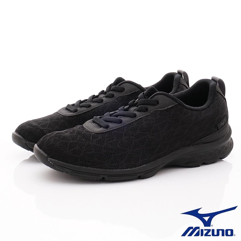 Mizuno美津濃-簡約輕便健走鞋-ON93509黑(男段)