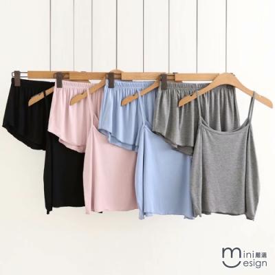 馬卡龍粉嫩色系舒適居家套裝 四色-mini嚴選