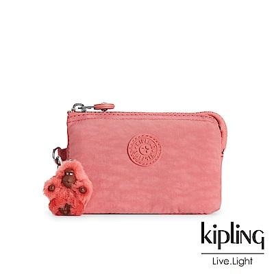 KIPLING薔薇粉渲染零錢包(小)
