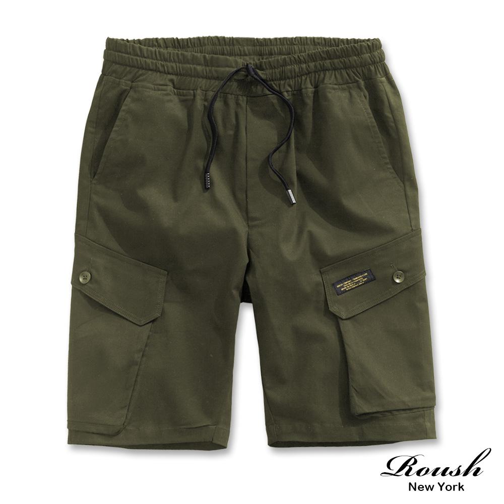 Roush 雙斜口袋設計工裝短褲(2色)