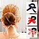 E-dot 氣質緞帶蝴蝶結丸子頭盤髮器 (三色選) product thumbnail 1