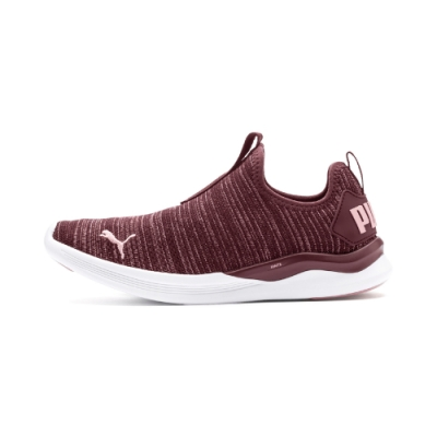 PUMA-IGNITE Flash Summer Slip 女性慢跑鞋-釀酒紅