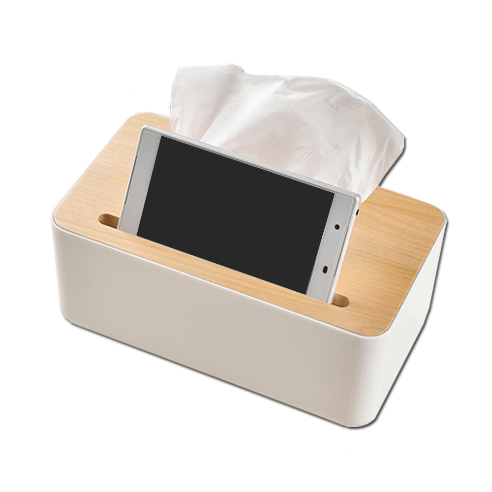 SAFEBET歐式高級橡木蓋子紙巾盒