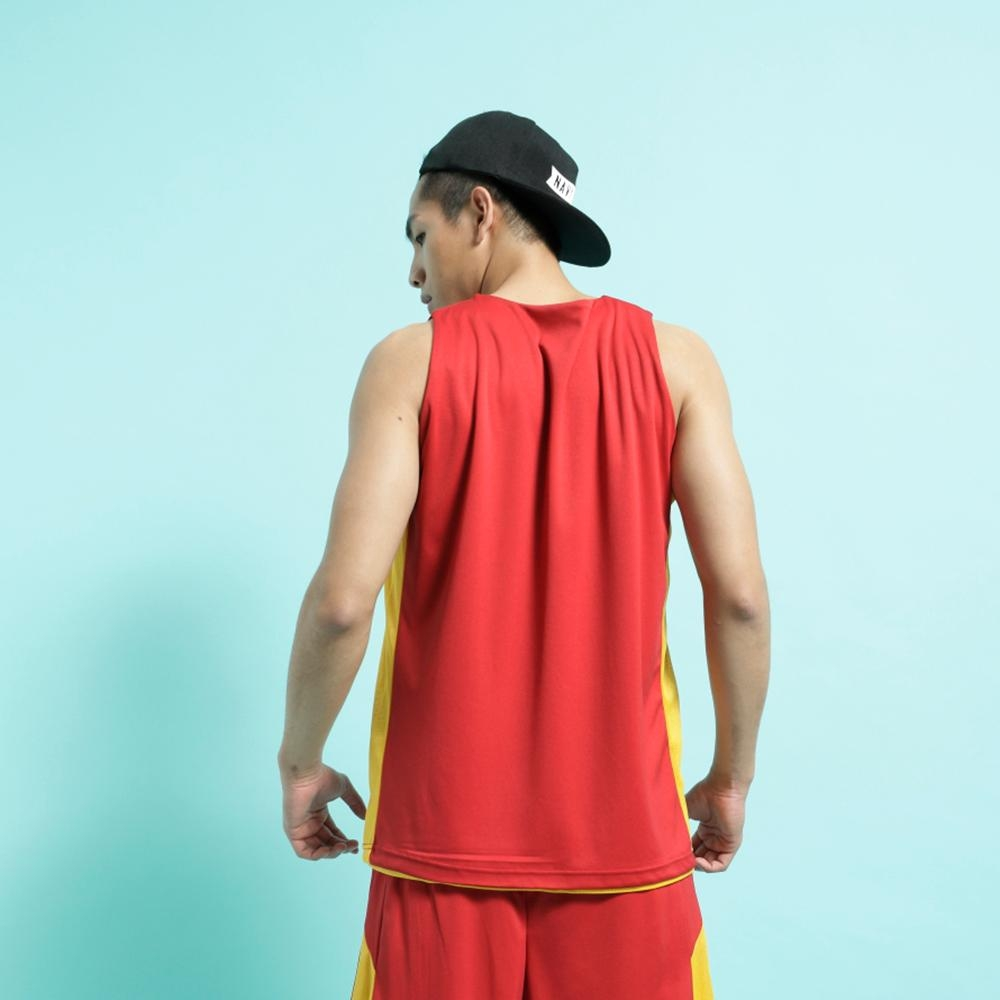 【FIVE UP】男款雙面穿吸濕排汗籃球背心-紫