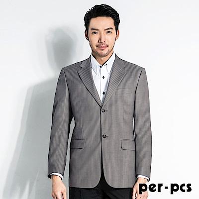 per-pcs 經典品味休閒直條紋修身西裝外套(707321)