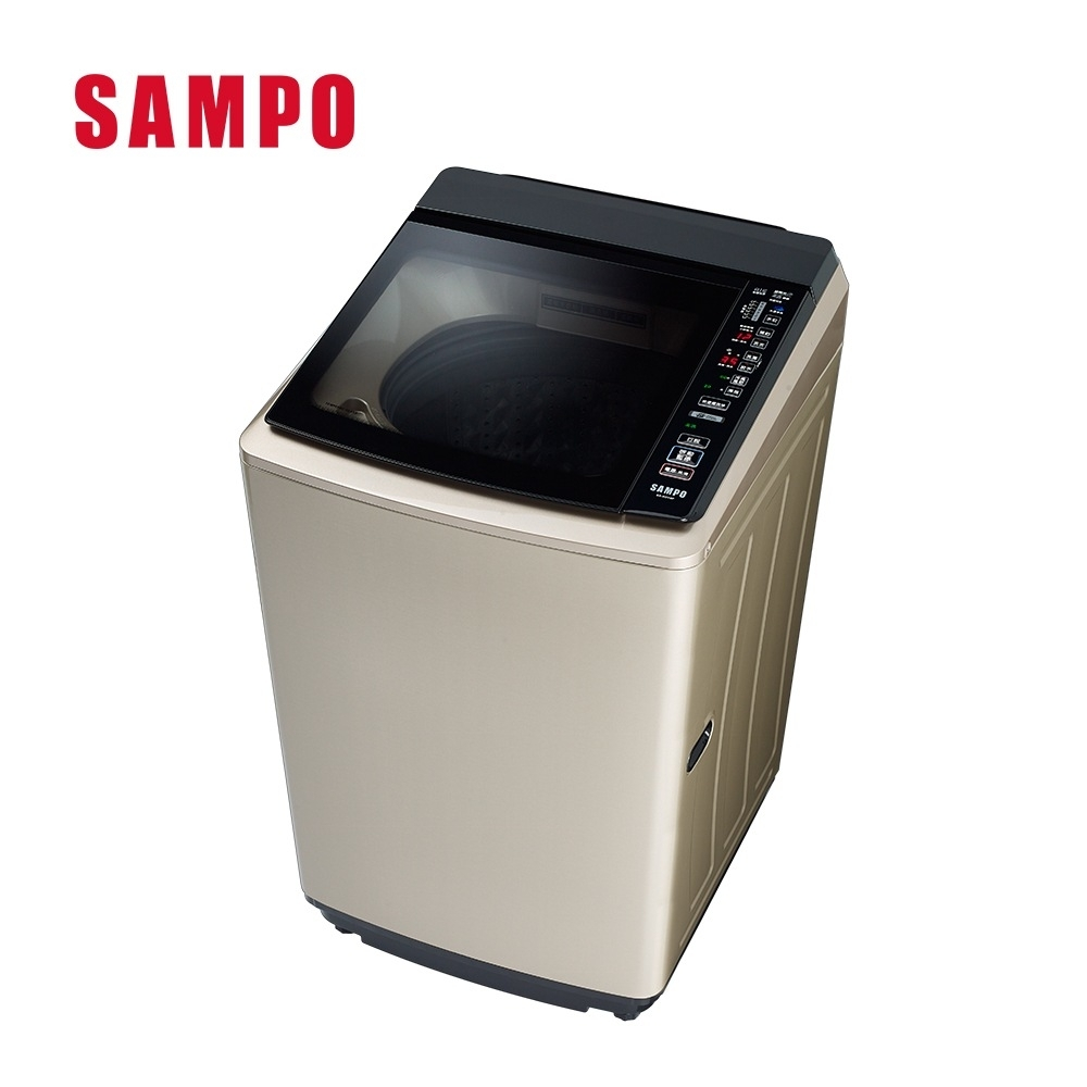 福利品-SAMPO聲寶 18KG PICO PURE變頻直立式洗衣機 ES-KD19P(Y1)
