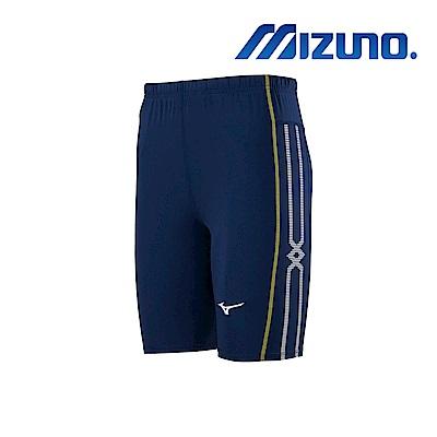 MIZUNO 緊身褲(中長型) 深丈青 U2TB9G0414