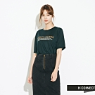 H:CONNECT 韓國品牌 女裝-簡約標語短袖T-shirt-綠