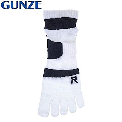日本GUNZE 吸濕排汗消臭襪5指襪ASC403