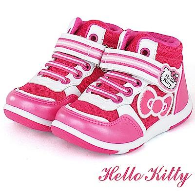 (雙11)HelloKitty 輕量透氣防臭高筒休閒童鞋-桃