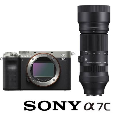SONY 索尼 ILCE-7C / A7C 附 SIGMA 100-400mm F5-6.3 DG DN OS (公司貨) 全片幅微單眼相機 五軸防手震 翻轉螢幕