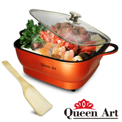 快-Queen Art 大容量5公升多功能不沾美食料理電火鍋(QA-KX88)