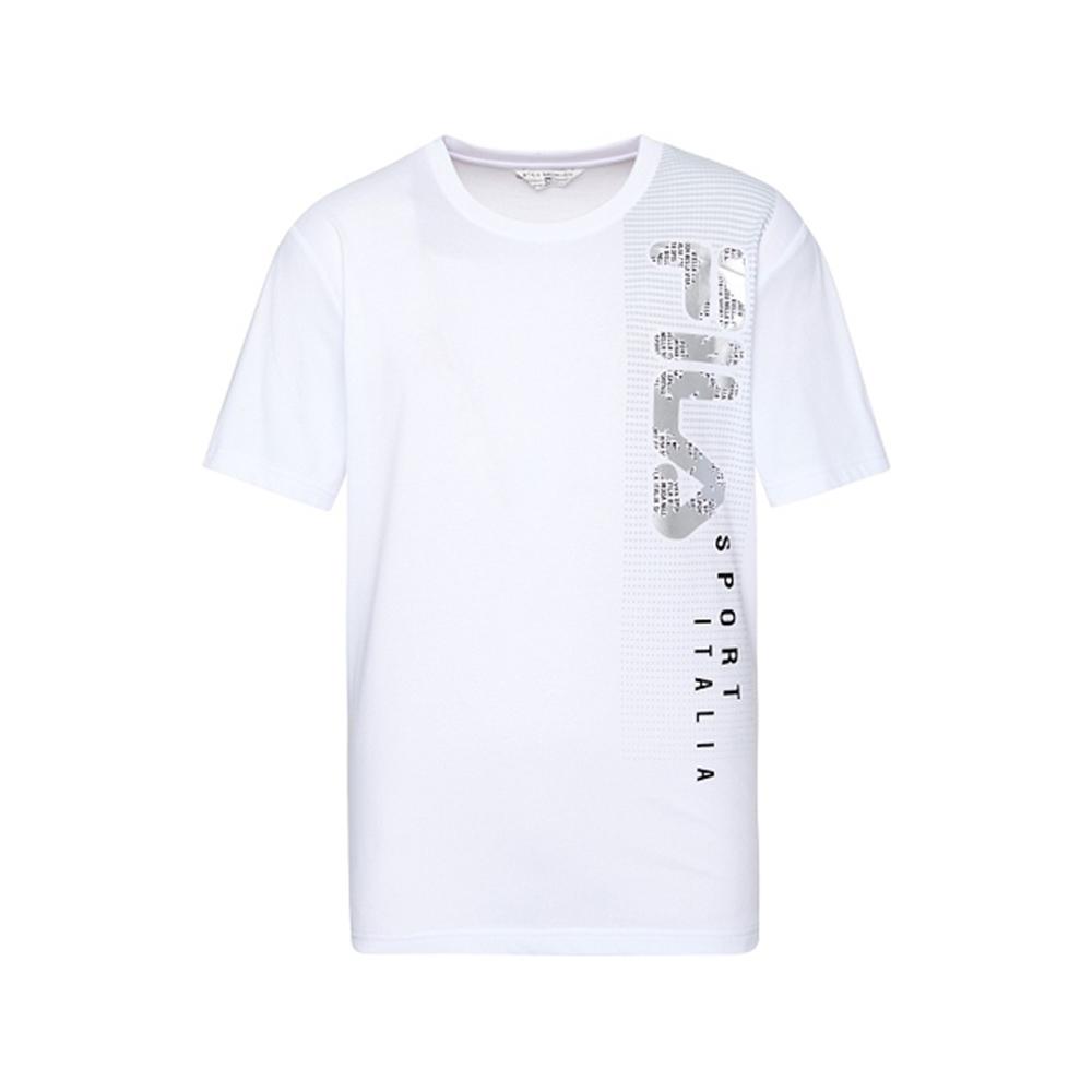 FILA 男短袖圓領T恤-白色 1TEV-1701-WT