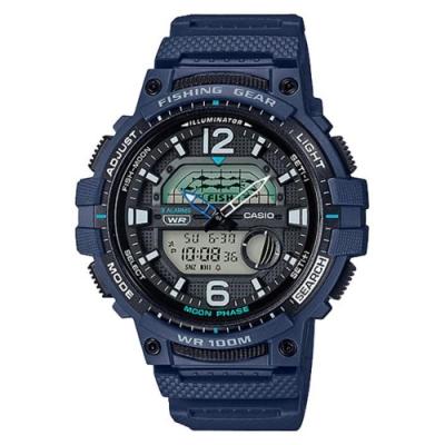 CASIO CASIO 海釣愛好者概念設計指針雙顯錶-藍(WSC-1250H-2A)/48.6mm
