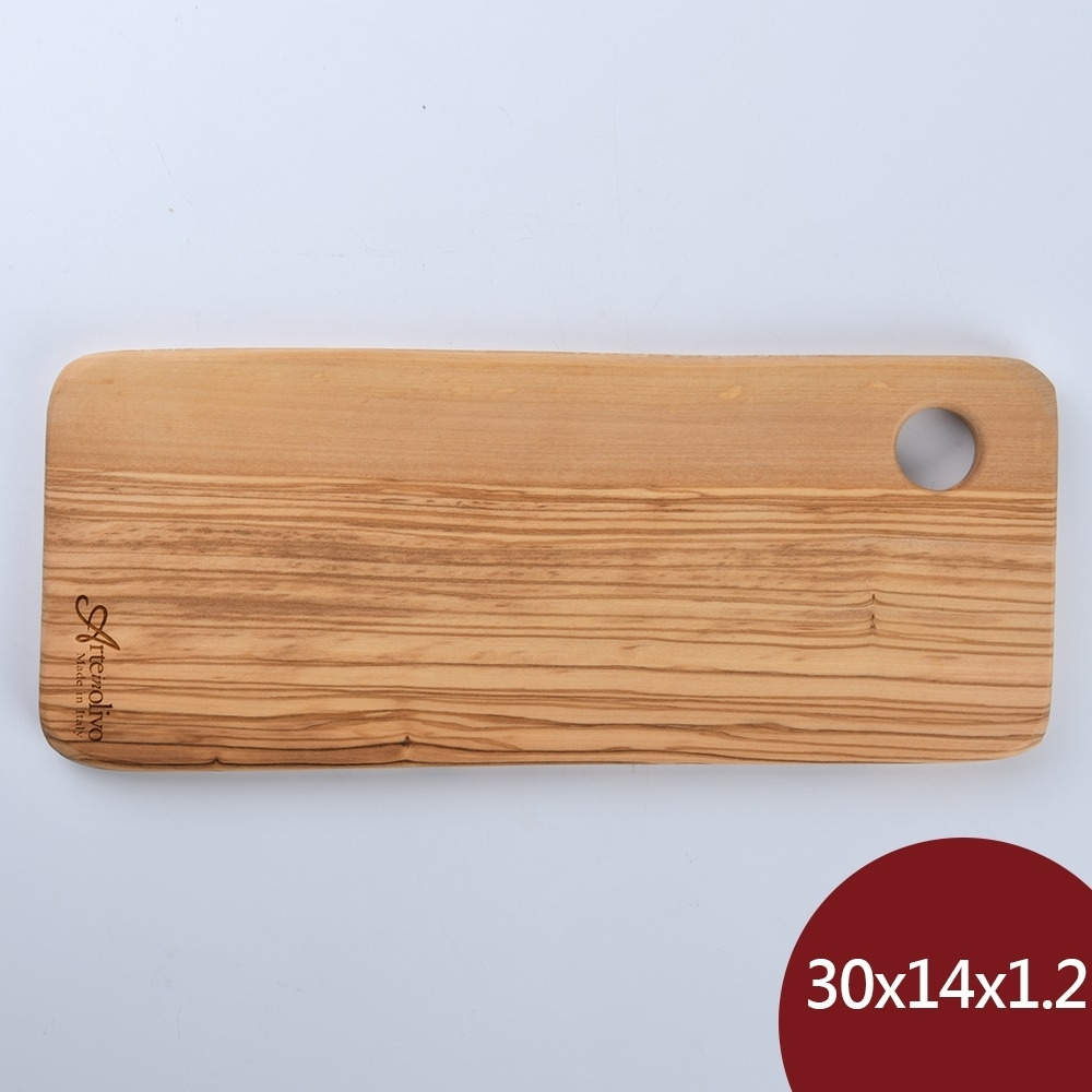 Arte in olivo 義大利 橄欖木 Rustic盛菜盤 30x14x1.2cm