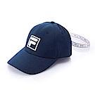 FILA時尚 LOGO 織帶帽-丈青 HTS-5101-NV
