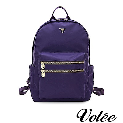 Volee好旅行系列雙拉鍊筆電後揹包-法國紫