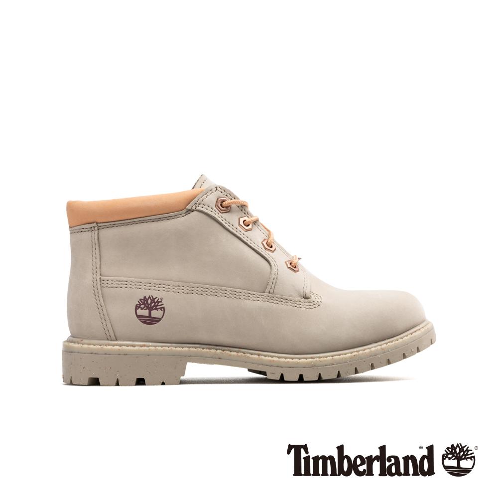 Timberland 女款淺褐色磨砂革經典低筒靴 A1WC6