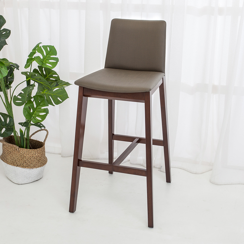 Bernice-森瓦實木吧台椅/吧檯椅/高腳椅(高)(二入組合)-48x57x100cm