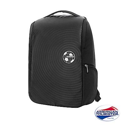 AT美國旅行者 Curio立體唱盤刻紋筆電後背包14 (黑)