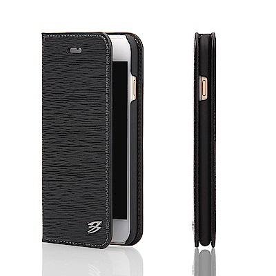 Fierre Shann 牙籤紋 iPhone 6/6s Plus 插卡手工皮套