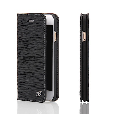 Fierre Shann 牙籤紋 iPhone 7/8 Plus 插卡手工皮套