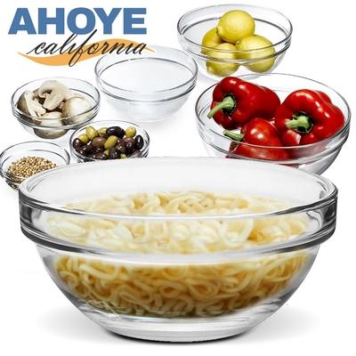 Ahoye 加厚玻璃泡麵碗 20cm 沙拉碗 湯碗