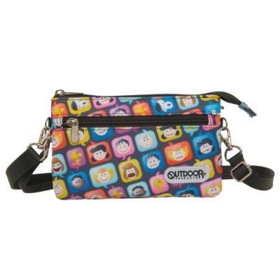 【OUTDOOR】SNOOPY聯名款emoji二用側背包-黑 ODP21A01BK