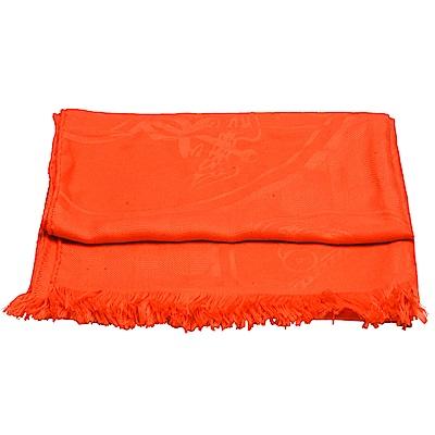 HERMES 經典New Libris stole系列圖騰喀什米爾圍巾(橘)