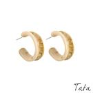 玳瑁C型圓圈耳環 TATA