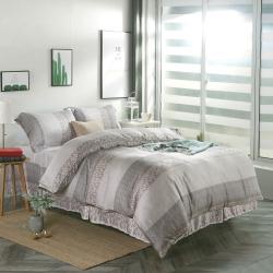 夢工場浪漫花絮40支紗萊賽爾天絲四件式鋪錦床罩組-加大