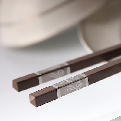 帝寶聚合金筷5入-咖啡5