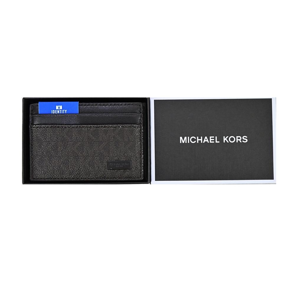 MK MICHAEL KORS JET SET滿版名片夾禮盒組-棕