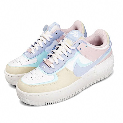 Nike 休閒鞋 AF1 Shadow 運動 女鞋 基本款 舒適 簡約 球鞋 厚底 穿搭 白 彩 CI0919106