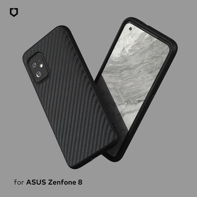 犀牛盾 ASUS Zenfone 8 SolidSuit防摔背蓋手機殼-碳纖維紋路