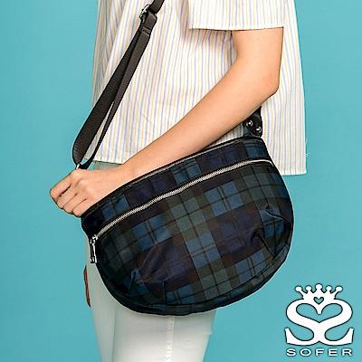 SOFER 斜背包 輕量尼龍簡約斜背包 -  蘇格蘭紋