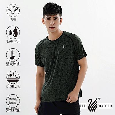 【遊遍天下】MIT男款透氣吸排抗UV速乾運動圓領衫GS20007黑色